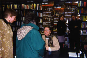 P. D. James book signing